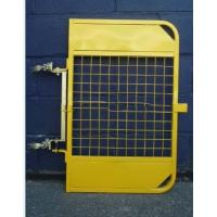 Quality Yellow Powder Coated Scaffold Ladder Access Gates Adjustable For Mezzanines for sale