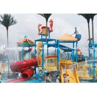 China Professional Kids Water Play Equipment Structures With Water Slide , Climb Net on sale