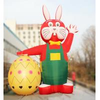 Buy cheap Outdoor 6m Decorative Red Inflatable Easter Rabbit with Egg for Easter from wholesalers