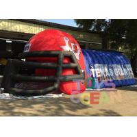 China Outdoor Advertising Blue N Red Inflatable Football Helmet Tunnel For Sport Event on sale