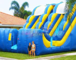Wholesale Commercial Double Side Inflatable Bouncer Slide Double Stitching from china suppliers