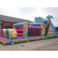 Wholesale 0.55mm PVC Outdoor Commercial Blow Up Inflatable Obstacle Courses For Adult YHOB 008 from china suppliers