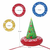 Wholesale EN71 6P PVC Inflatable Christmas Tree Toss Game For Christmas Parties from china suppliers