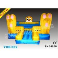 Quality Custom 0.55mm PVC Inflatable Jumplers Bouncers Princess Castle YHB-002 with 950W for sale