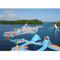 Wholesale Custom Made Weld Air Sealed Open Water Inflatable Floating Island Park from china suppliers