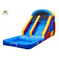 China Blue 10 Steps Inflatable Water Slide 8*3M PVC Tarpaulin Double Stitching on sale