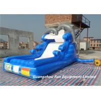 China Inflatable dolphin inflatable water slide for kids, inflatable water slide whole seller on sale