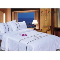 Quality Customized Size Hotel Collection White Comforter Set Soft 330TC for sale