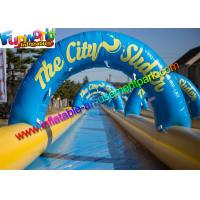 Wholesale Giant 100M Famous Inflatable Big Water Slide , Inflatable City Slide  For Summer from china suppliers