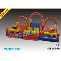 Wholesale 0.55mm PVC Inflatable Obstacle Courses YHOB-001 with Warp-527N  Weft-323.8N for Adults from china suppliers