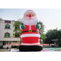 China Surfing Santa Claus Inflatable Cartoon Characters With Commercial Sewing / Welding on sale