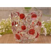 Buy cheap Home Decorative Glass Candle Holders , Glass Candlestick Holders Hobnail Dots from wholesalers