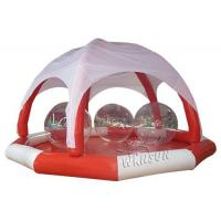 Wholesale PVC Large Inflatable Swimming Pool , Huge Inflatable Circle Pool With Tent from china suppliers