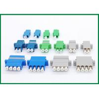 China Single Mode Multimode LC Fiber Optical Adapter Quad Blue Green Grey on sale