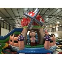 China New Designs Kids Inflatable Bounce House With Slide Beautiful Inflatable Mushroom Jump House on sale