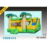 Wholesale Custom 3 in 1 Plato 0.55mm PVC Commercial Inflatable Combo Bouncers YHCB-015 from china suppliers