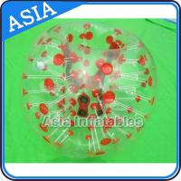 Wholesale Custom Made Red Dots Inflatable Human Soccer Bubble Ball for Football from china suppliers