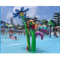 Wholesale OEM Flower Spray / Aqua Spray Fiberglass Aqua Blue Water Park For Children / Adults from china suppliers