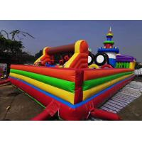 Wholesale Mickey Mouse Disney Land Fun City Inflatable Kids Amusement Park Bouncer Obstacle Castle from china suppliers
