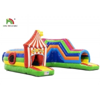 Wholesale 0.55mm Plato PVC Inflatable bouncy castle with slide For Party Rental from china suppliers