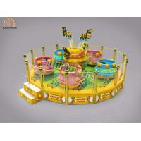Buy cheap Large Rotating Crazy Dance Ride Coffee Tea Cup Game 16p Capacity 2000kg Weight from wholesalers