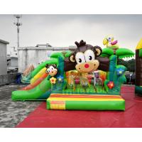 0.55mm PVC Tarpaulin Inflatable Bouncer Slide / Awesome Monkey Bouncy Castle