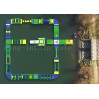 Wholesale 29.2 M*26 M Green Inflatable Water Sports Games Adult Obstacle Course from china suppliers
