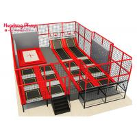 China ASTM Children'S Trampoline With Enclosure  Multi Function With Basketaball And Climbing Wall on sale