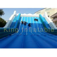 Quality Width Grey Blue Inflatable Dry Slide Waterproof Tarpaulin Double Climbing Ladders for sale