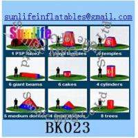 Wholesale inflatable 44pcs psp paintball bunker Flexible combination from china suppliers