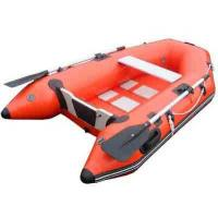 China Durable small fishing 0.9mm PVC Inflatable Boat , inflatable rubber motor boat Red on sale