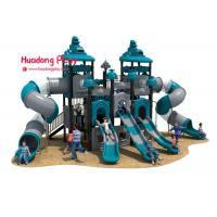 China High Strength Outdoor Playground Slides , Play Structure Slide Food Grade Plastic on sale