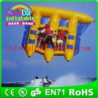 Riding a water flyfish boat air sealed inflatable water fly fish flying fish boat