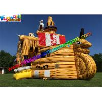 Wholesale 0.55mm Pvc Giant Inflatable Pirate Slide Cute Clown Attractive Inflatable Boat For Kids from china suppliers