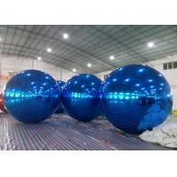 Quality Inflatable Huge Bule Mirror Ball Advertising Inflatable Product Large Mirror Balloon for sale