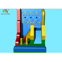 China Colorful Inflatable Sports Games / Blow Up Climbing Wall Combine Kids Slide Football Darts 8*5 M on sale