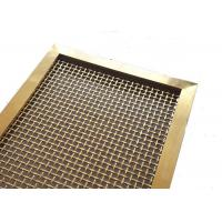 Wholesale PVD Color Metal Frame Room Drivider With Steel Rigid Decorative Weave Fabric from china suppliers
