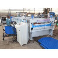 Wholesale PLC Automatic Zinc Roofing Roll Forming Machine / Corrugated Roof Sheet Making Machine from china suppliers