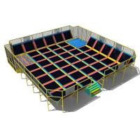 Wholesale indoor trampoline park equipment jump trampoline park toddler indoor trampoline with net from china suppliers