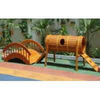 Wholesale Durable wooden arch bridge playground for kids from china suppliers