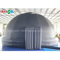 Quality Black 5m Diameter Inflatable Planetarium Dome Tent For Science Dispaly for sale