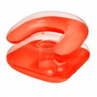 China Eco-Friendly 0.18mm Inflatable Sofa Chair Orange For Outdoor on sale