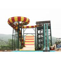 Outdoor Swimming Pool Boomerang Water Slide / Aqua Theme Park Fiberglass Slides