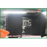 Quality Black Big Quadrate Strong Oxford Cloth Photobooth , Large Inflatable Photo Booth for sale