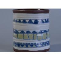 Wholesale Glossy Glazing Home Decor Ceramic Candlestick Holders Hand Painted Eco - Friendly from china suppliers