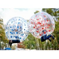 Buy cheap Colorful Dots 1.5m 1.0mm PVC Inflatable Zorb Football Bubble Soccer Ball With CE from wholesalers