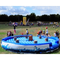 Wholesale EN71 Inflatable Jousting Arena Interactive Last Man Standing Gladiator Game from china suppliers