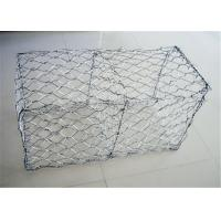 Wholesale PVC Coated Gabion Wire Mesh Cages For Stone , Gabion Baskets Retaining Wall from china suppliers