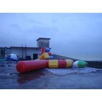 China Large Inflatable Water Sports , Aquapark Platinum Rebound Bouncer With I-Log And Slide on sale