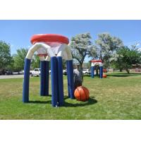China Customzied Giant Inflatable Sports Games Basketball Hoop / Basketball Court With 0.55mm PVC on sale